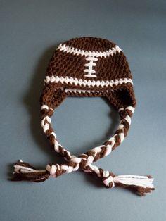 Crochet Football Hat Baby Football Hat Baby boy by LovelyJC ac0780b78593