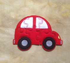 Car Felt Puzzle with Template/Case by SouthwestStitches on Etsy