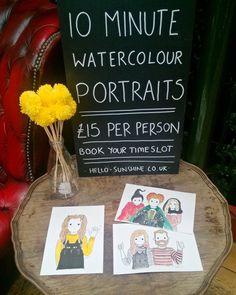 Come a get your live @sunshine_jo portrait! Find us at @maltcross till 5pm