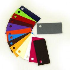 Etiquetas rectangulares de colores (x12)