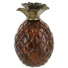 Decorative Pineapple $11.99 for bookcase with yellow & green ceramic, already have a wooden one