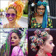 multicolored rainbow Box Braids will be impressed with //  #braids #impressed #multicolored #rainbow
