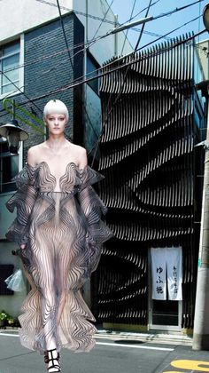 What Happens When High Fashion is Inspired by Iconic Architecture? Punk Fashion, Couture Fashion, High Fashion, Fashion Show, Fashion Design, Architect Fashion, Fashion Architecture, Architecture Sketchbook, Victorian Architecture