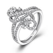 This beautiful 18K White Gold diamond ring has round white diamonds weighing 0.47 carats. On Sale: $890.