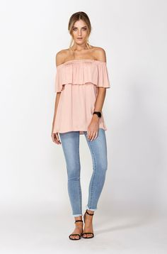 The best of what's new! Shop the Cartagena Off The Shoulder Top in stores and online now www.decjuba.com.au @Decjuba