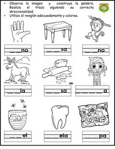 New Science Tools Worksheet Learning Ideas Science Experiments For Preschoolers, Teaching Activities, Speech Language Therapy, Speech And Language, Spanish Lessons, Teaching Spanish, Teacher Introduction Letter, Science Tools, School Worksheets