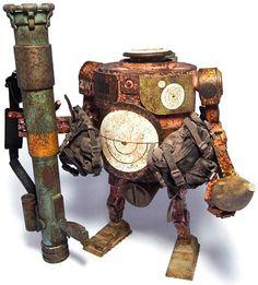 """Pink Dazzle RPG Bramble"" | World War Robot Portable (WWRP) Series | Artist: Ashley Wood"