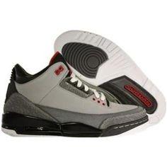100% authentic 1080a e99d1 http   www.anike4u.com  Air Jordan Retro 3 Stealth Silvery