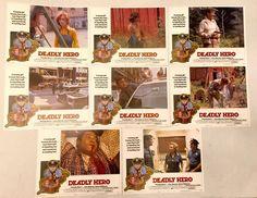 1976 Deadly Hero Movie Lobby Cards Lot Set Of 8 Photos Stills Posters VCG  | eBay