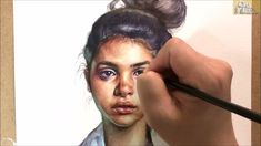 Watercolor Portrait painting demonstration of a woman