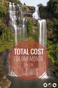You will never believe how cheap it is to travel! Here is a budget breakdown of what it cost for 2  people to spend an entire month in beautiful Laos exploring caves, waterfalls, and islands.