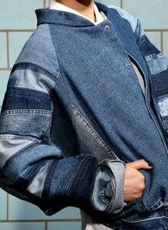 Artic Bomber Jacket denim Fade Out Label medium blue