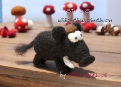 """Lustiges """"Wildschweinchen"""", handgefilzt von Filz-Michel auf DaWanda.com"""