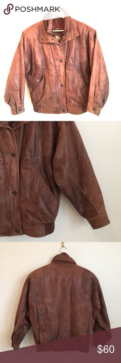 Wilson's Adventure Bound Leather Bomber Jacket Vintage brown leather bomber jacket in excellent used condition. Size men's XS but fits like a women's medium. Thinsulate removable liner. Small signs of worn and loved leather. Wilson's Adventure Bound Jackets & Coats