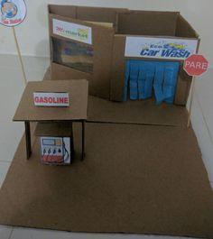 Gas station Cardboard (estación de gasolina cartón)