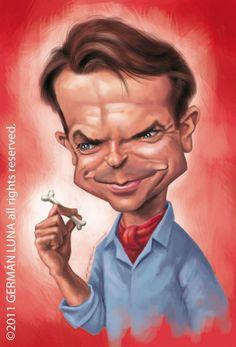 Caricatura de Sam Neill