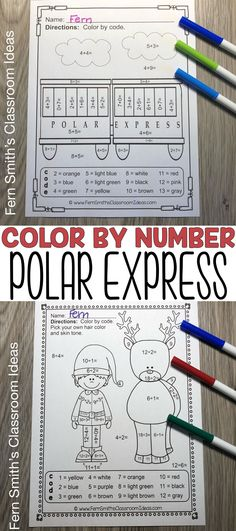 You will love the no prep, print and go ease of these Christmas Polar Express Color By Number Addition, Subtraction, Multiplication, and Division Christmas Themed Printables. This Christmas Polar Express Color By Number Addition, Subtraction, Multiplication, and Division Printables includes 12 pages for introducing or reviewing addition, subtraction, multiplication, and division. This bundle is perfect for differentiation in ESOL, ESL, Home Schooling and Special Education Classes.