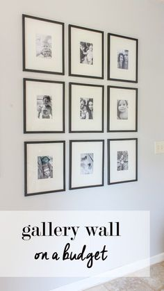 gallery wall on a budget  11x14 frames with 5x7 mats