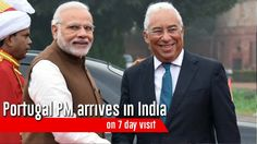Portugal PM arrives in India on 7 day visit