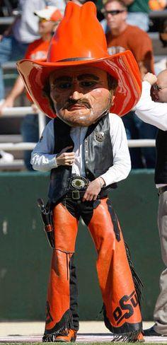 Oklahoma State Cowboys mascot Pistol Pete.