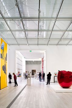 Art gallery interior at LACMA.