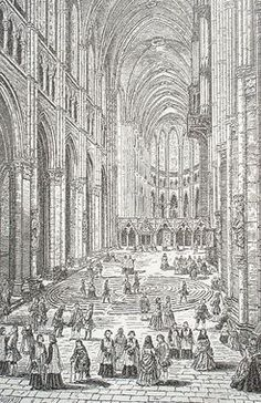Chartres Cathedral in France. In ancient times, many people could not afford to travel to holy sites and lands, so labyrinths and prayer substituted for such travel.