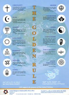 Symbols of World Religions (Canada Unitarian! but no US UUA! Religious Studies, Religious Education, Teaching Religion, Cultura General, By Any Means Necessary, World Religions, Golden Rule, Ancient History, Greek History