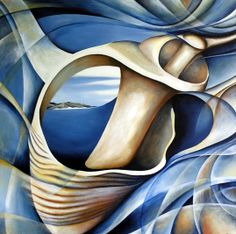 amiria-gale-shells not by O'Keeffe but very evocative of her flowing style