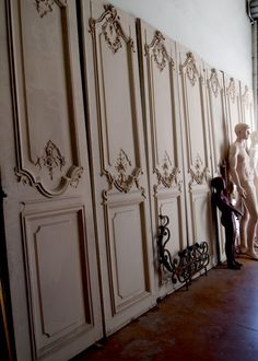 Beautiful French Carved Panels from a Parisian apartment.