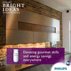 Don't prep your meals in the dark. Use Philips LED capsules in under-cabinet fixtures  for bright, long-lasting lighting that can make slicing and dicing easier. Your fingers and your energy bill will thank you.