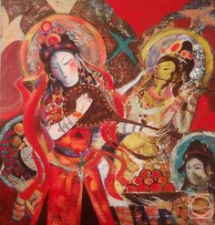 Kagarov MEDAT.  Por la noche Russian Art, Art Gallery, Princess Zelda, Artist, Artwork, Painting, Fictional Characters, Night, Art Museum