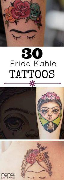 30 Frida Kahlo tattoos that make us want to get inked – Painting ideas Body Art Tattoos, I Tattoo, Sleeve Tattoos, Cool Tattoos, Tatoos, Gold Tattoo, Thigh Tattoos, Tattoo Blog, Frida Kahlo Tattoos