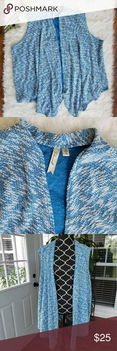 Trendy stylish knit sweater vest Excellent condition! Light stretchy XXXL cardigan vest knit long ghenault Tops