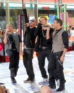 """McLean Photos - Singers Brian Littrell, AJ McLean, Nick Carter and Howie Dorough of the Backstreet Boys perform on NBC's """"Today"""" at Rockefeller Center on June 2011 in New York City. - New Kids On The Block And Backstreet Boys Perform On NBC's """"Today"""" Backstreet's Back, Brian Littrell, Kevin Richardson, Nick Carter, Love To Meet, Backstreet Boys, Today Show, Second Child, New Kids"""