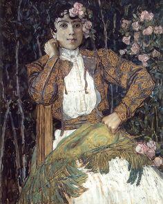Spanish Woman in Green 1906 Alexander Golovin