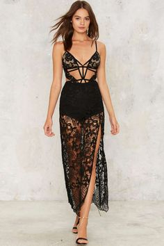 Beautiful Nightmare Lace Maxi Skirt - Clothes | The All-Nighters | Maxi