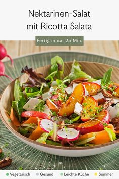 Superfood, Ricotta, Dressing, Nectarine Salad, Lettuce Recipes, Credenzas, Carrots, Side Plates, Fresh