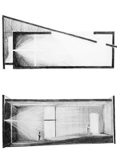 architecture - sketches representing the intensity and composition of Natural light Church of Light Tadao Ando Teodora Barbu Shadow Architecture, Architecture Art Nouveau, Concept Architecture, Architecture Drawings, Church Architecture, Sections Architecture, Triangular Architecture, Folding Architecture, Computer Architecture