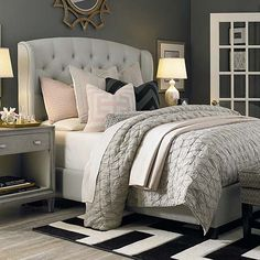 I like the style of the headboard.  Also like the side tables.