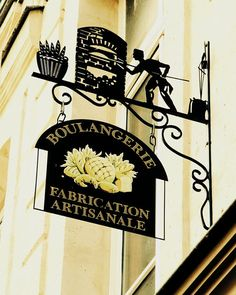 Wrought Iron Sign For French Bakery in Paris by pamelajanegallery on Etsy