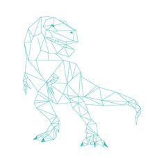 geometric t-rex illustration for Marianne Chua Photography by Ditto Creative branding agency Geometric Drawing, Geometric Shapes, Geometric Animal, Stylo 3d, Polygon Art, 3d Pen, Grafik Design, String Art, Rock Art