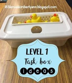 Level 1/ put in task box ideas!