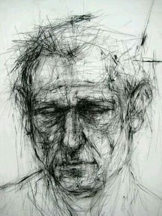 Lovely drypoint portrait.