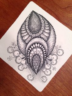 Tangled Up In Art: One Zentangle a Day - Day 25 and More