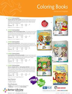 Hospital & doctor visits can be scary for kids. @betterlifeline  can help with their fun and informative coloring books. #coloringbooks #promotionalproducts