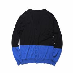 SOPHNET. 2 tone knit cardigan