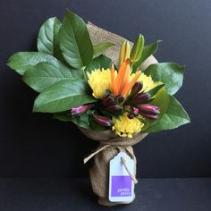 Spider Chrysanthemum, Lily and Alstroemeria with Lemon Leaf Foliage. Only $25 delivered today anywhere in Manhattan*. #flowers #florist #Manhattan #newyork #spidermum #lily #alstroemeria