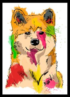 Akita Inu - Dog in Art