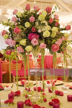 Stock Photo : Cascading wedding centerpiece