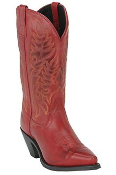 Red cowboy boots are a definite need